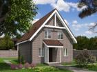 Одноэтажный дом с террасой и мансардой